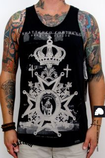 SINGLET TANK TOP by DARIUM judy death skull BLACK NANA ROCK BAND Punk