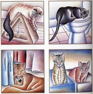 Judy Chicago Cat Art Great Illustrations of Her Cats