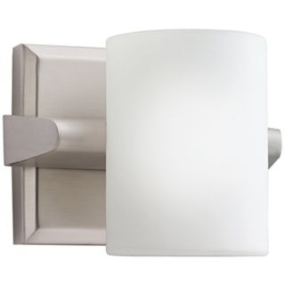 "Kichler Cylinder Brushed Nickel 5"" High Wall Sconce   #J1402"