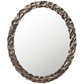 "Kichler Acanthus 36"" High Oval Wall Mirror   #X5867"