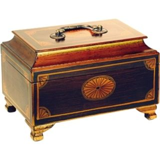Golden Accents Hand Painted Wood Jewelry Box   #H2312