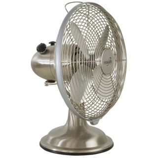 "Brushed Nickel 10"" Retro Desk Fan   #57347"