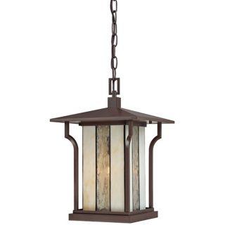 "Quoizel Langston 11"" Wide Bronze Outdoor Pendant Light   #W0885"