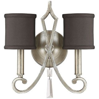 """Elan 11 3/4"""" Wide Brushed Silver Wall Sconce   #X0243"""