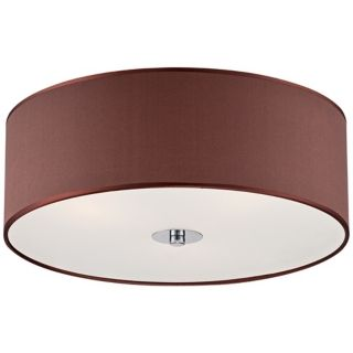 """Satin Brown 16"""" Wide Frosted Glass Ceiling Light   #X8832"""