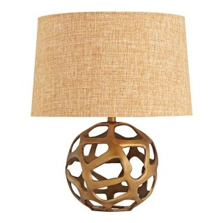 Ennis Antique Brass Web Sphere Table Lamp   #M6074