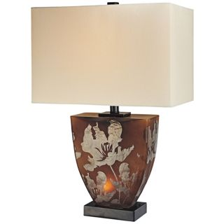 Ambience Collection Amber Glass Night Light Table Lamp   #R0368