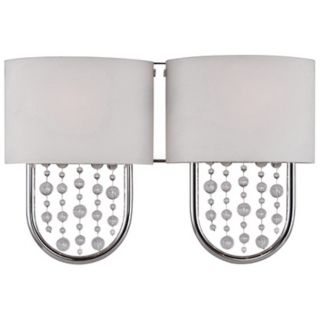 "Celesse Collection 16 3/4"" Wide Polished Chrome Wall Sconce   #X1375"
