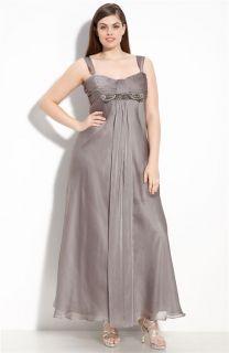 JS Collections Drape Front Chiffon Gown SZ 22W