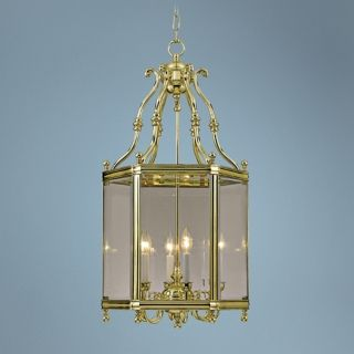 "Windsor Collection Polished Brass 18"" Wide Pendant Light   #K4942"