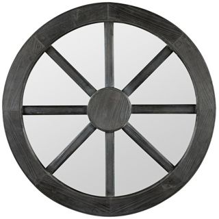 "Cooper Classics Maddox Round 27 1/2"" Wheel Wall Mirror   #X7058"
