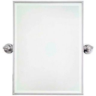 "Minka 24"" High Rectangle Chrome Bathroom Wall Mirror   #U8974"