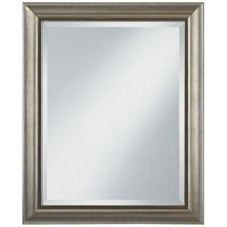 """Chalon Silver Wood Frame 33"""" High Wall Mirror   #U7490"""