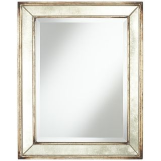 "Uttermost Parapet 29"" High Antique Glass Wall Mirror   #W0079"