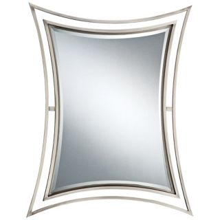 "Quoizel Perry Collection 32"" High Nickel Wall Mirror   #N9236"