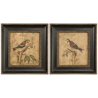 Uttermost Set of 2 Colorful Birds Hand Painted Wall Art   #J2955