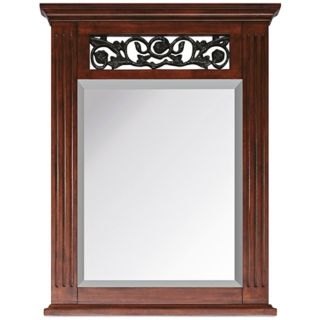"Napa Dark Cherry 31 1/2"" High Rectangular Wall Mirror   #R8992"