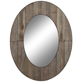 "Cooper Classics Mammoth 35 1/2"" High Oval Wall Mirror   #V1662"