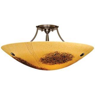 "LBL Veneto Venti Bronze Amber Glass 30"" Wide Ceiling Light   #X6501"