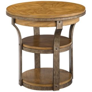Vero Round Wooden End Table   #Y2141