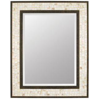 "Quoizel Monterey Mosaic 30"" High Rectangular Wall Mirror   #N9232"