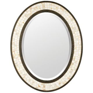 "Quoizel Monterey Mosaic 30"" High Oval Wall Mirror   #N9233"