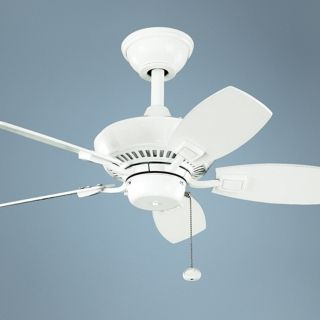 """30"""" Kichler Canfield White Indoor Outdoor Ceiling Fan   #K9883"""