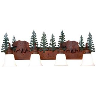 "Wasatch Collection Bear 36"" Wide Bathroom Light Fixture   #J0541"
