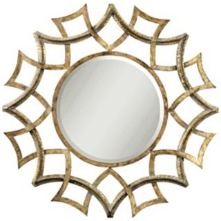 "Uttermost  Golden Voyage Round 40"" Wide Wall Mirror   #84643"