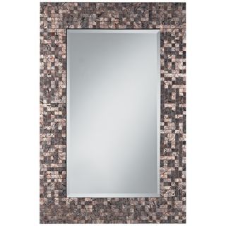 "Painted Line Strokes Mosaic 35"" High Rectangular Wall Mirror   #V0426"