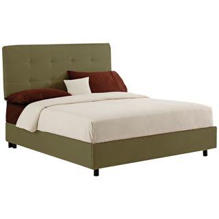 Sage Microsuede Tufted Bed   #N6213