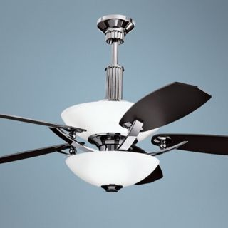 60 Quot Spyder Chrome Ceiling Fan With Crystal Discs Light Kit