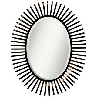 "Kichler Slinkee 45 3/4"" High Brown Oval Wall Mirror   #X5845"