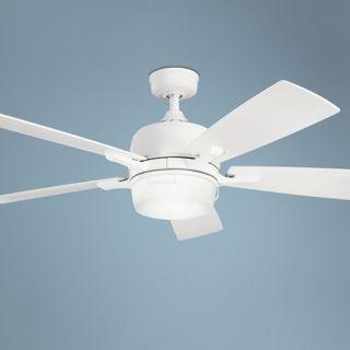 "52"" Kichler Leeds Satin White ENERGY STAR Ceiling Fan   #U5806"