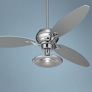 "66"" Spyder Chrome Ceiling Fan With Light Kit   #R2180 R2484 R1846"