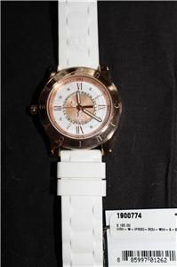 New Juicy Couture HRH Rose Tone Steel Case White Jelly Ladies Watch