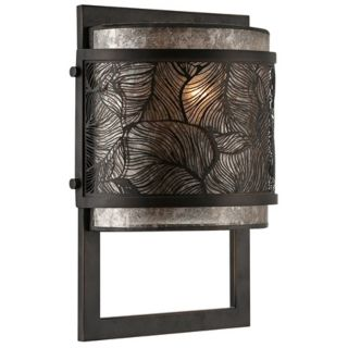 "Quoizel Daly 8"" Wide Leaf Grille Wall Sconce   #W0628"