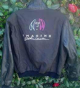 Imagine 1988 John Lennon Custom Signature Film Crew Jacket The Beatles