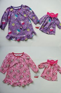 2T Night Gown Pajamas Holiday Matching Doll Jumping Beans $26