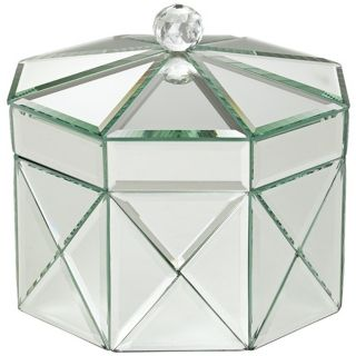 Octagonal Mirrored Jewelry Box   #R9212
