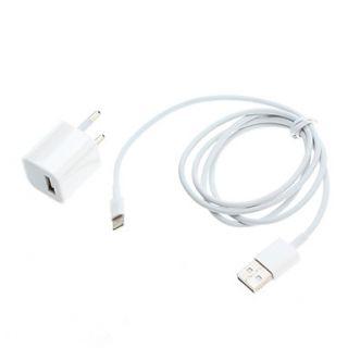 EUR € 7.63   UE Plug adaptador de corriente USB con cable USB para