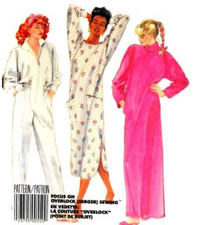 Vintage Nightgown Jumpsuit Robe Sewing Pattern M2802 Sewing Pattern