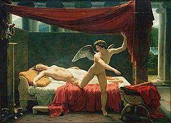 Sensual Cupid Psyche Eros Aphrodite Venus Winged Lovers Bronze Marble