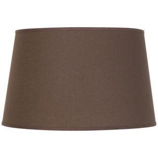 Brown, Drum Lamp Shades