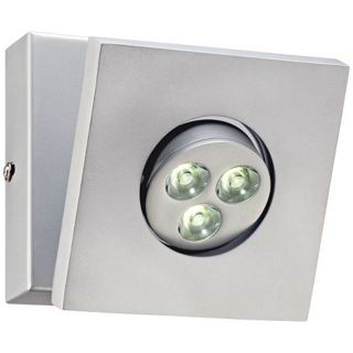 "Urania 4 3/4"" High LED Silver Wall Sconce   #X0120"