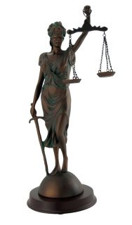 Desktop Lady Justice Justicia Antiqued Bronze Statue 10 1 2 In