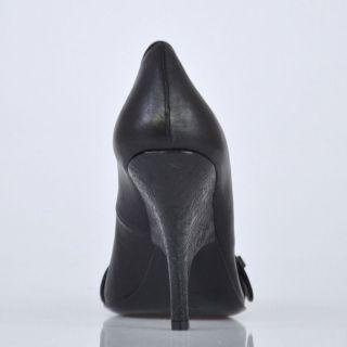 Just Cavalli Black Leather Pumps Heels Shoes US 9 EU 39
