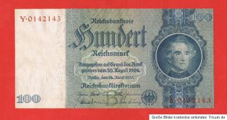 WW2 Nazi Germany 100 Mark Note 1935 with Swastika UNC