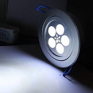 bianco 5 led plafoniera giù luce led con conducente (AC 100 ~ 240V