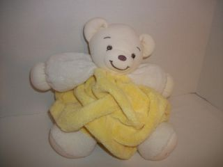 1998 Kaboo Yellow Plush Teddy Bear PAL Soft Fleece Lovey